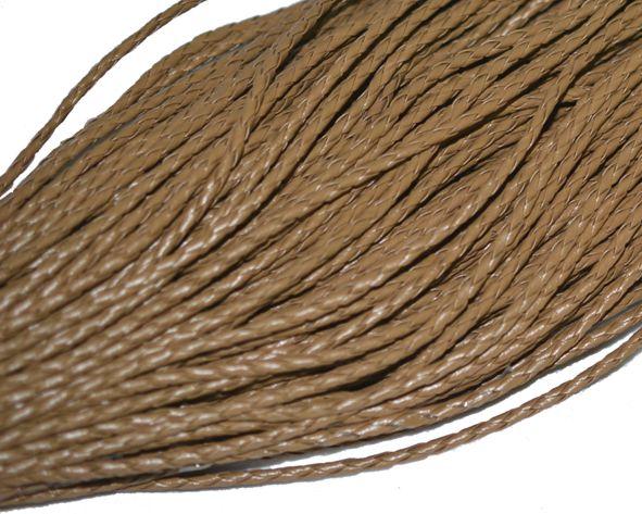 6beff201adc Fio cordão couro ecológico trançado 4 mm - Bege (metro)
