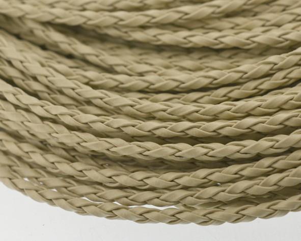 de55c810563 Fio cordão couro ecológico trançado 3 mm - Cru (metro)