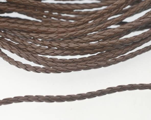 98965d92eb8 Fio cordão couro ecológico trançado 4 mm - Marrom (metro- Couro e ...